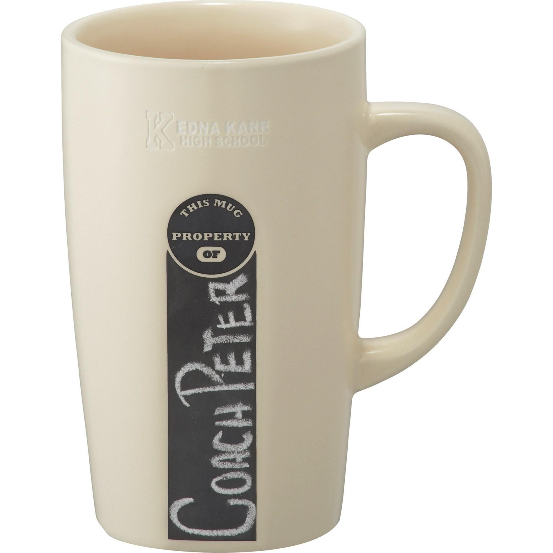 16 oz ID Chalkboard Ceramic Mug - 1624-65