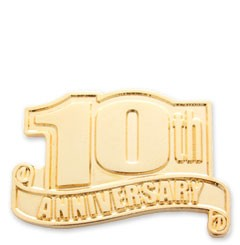 10th Anniversary Safety / Service Pin - A1