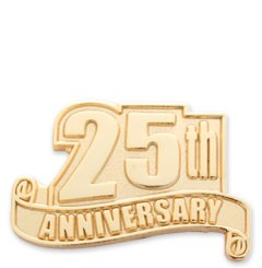 25th Anniversary Service Safety Lapel pin with military clutch - A4