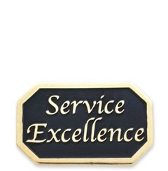 Service Excellence Stock Lapel Pin with military clutch - A9