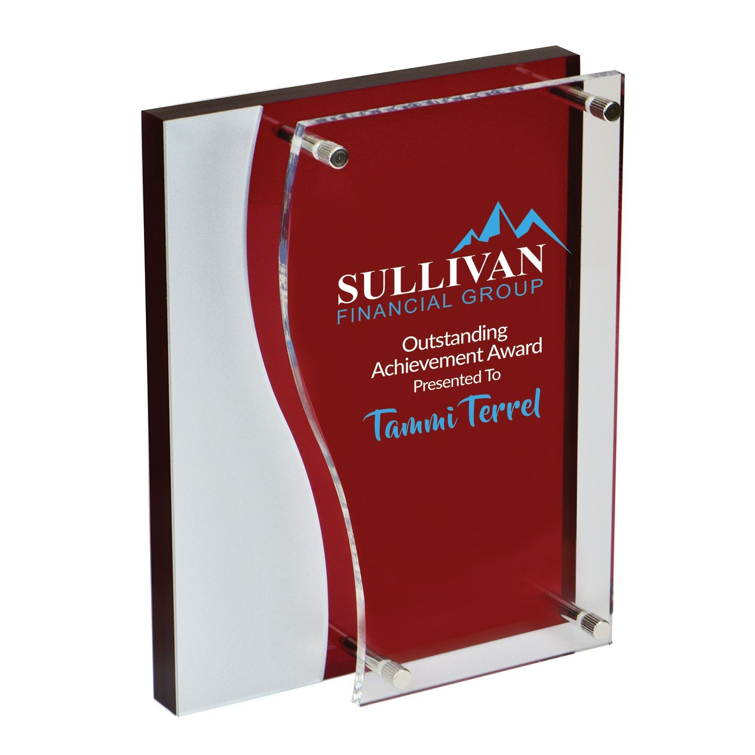 Bilevel Red Acrylic Award - AC0008