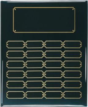 "12"" x 15"" Black Piano Finish Perpetual Plaque - BPP24"