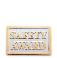 Safety Award Stock Lapel Pin with military clutch - C3