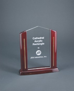 "8 1/2"" Rectangle Cathedral Acrylic - CAR51"