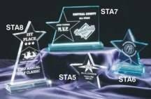 """5"""" x 5"""" Star Acrylic Award  - STA6"""