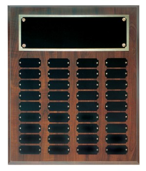 "15"" x 18"" Cherry Finish Perpetual Plaque - CPP36"