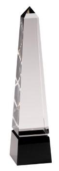 """12"""" Black Pedestal Crystal Facet - CRY003L"""