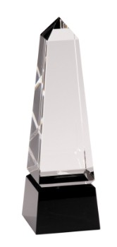 "8"" Black Pedestal Crystal Facet - CRY003S"