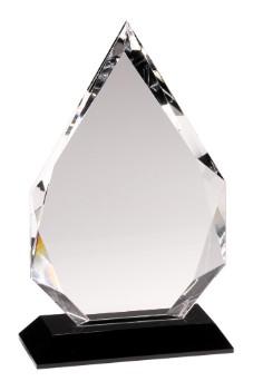 "10"" Black Pedestal Crystal Diamond - CRY005L"