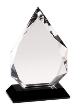 "8"" Black Pedestal Crystal Diamond - CRY005S"