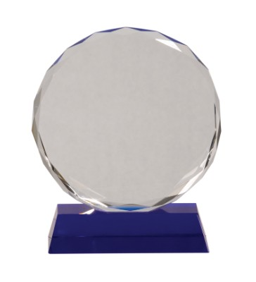 "7"" Blue Pedestal Round Crystal - CRY501L"