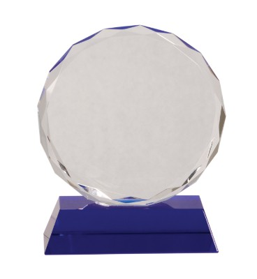 "6"" Blue Pedestal Round Crystal - CRY501M"