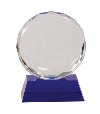 """5"""" Blue Pedestal Round Crystal - CRY501S"""