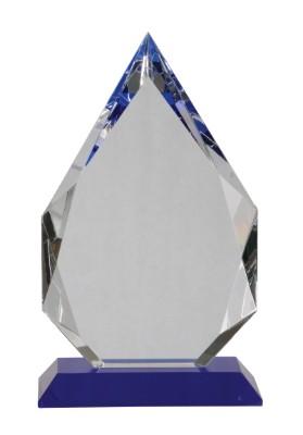 "10"" Blue Pedestal Crystal Diamond - CRY505L"