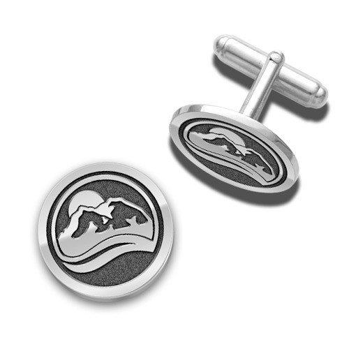 "3/4"" Nickel plated set of two cuff links"