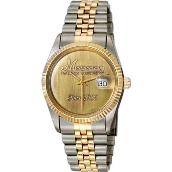 Mens Saturn Medallion Two-tone Watch - D1306