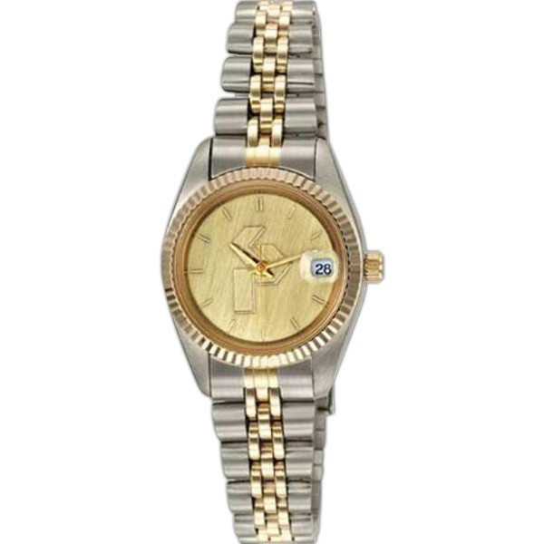 Ladies Saturn Medallion Two-tone Watch - D1356