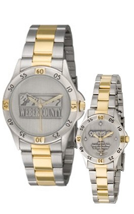 Mens Contender Medallion Two-tone Watch - D5106