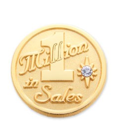 1 Millions in sales stock lapel pin with military clutch - F1