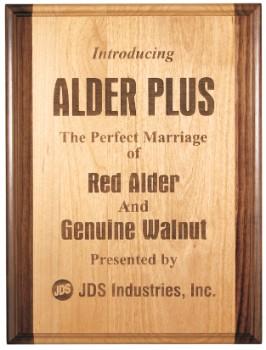 """9"""" x 12"""" Red Alder & Walnut Plaque - GAP912"""