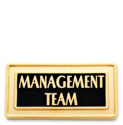Management Team Stock Lapel Pin with military clutch - H1