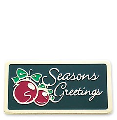 Season Greetings Stock Holiday Lapel Pin with military clutch - HL15