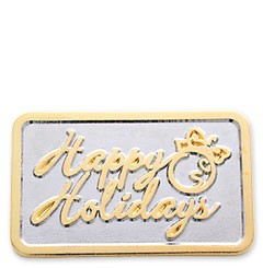 Happy Holidays Stock Holiday Lapel pin with military clutch - HL17
