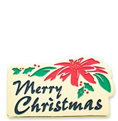 Merry Christmas Stock Holiday Lapel Pin with military clutch - HL24