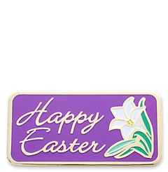 Happy Easter Stock Holiday Lapel Pin with military clutch - HL35