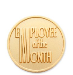 Employee of the Month Stock Lapel Pin with military clutch - I1