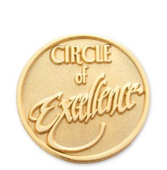 Circle of Excellence Stock Lapel Pin with military clutch - J1
