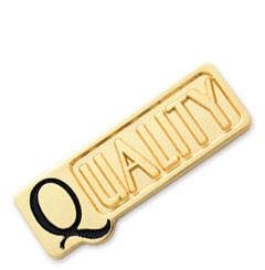 Quality Stock Lapel pin with military clutch - K1