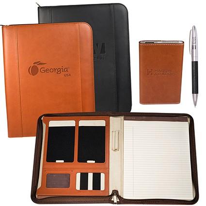 Tuscany Portfolio Power Bank and Pen Gift Set - LG-9376