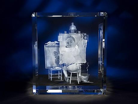 "11"" x 9 13/16"" x 5 5/16"" Super Rectangle Shape Crystal Award"