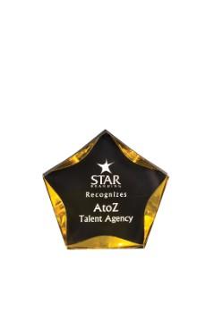 "7"" Black/Gold Luminary Star - LSTBKG"