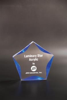 "6"" Clear/Blue Luminary Star - LST6BU"