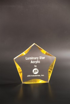 """5"""" Clear/Gold Luminary Star - LST5GD"""