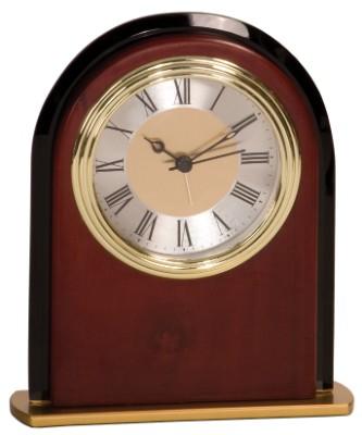 """6 1/2"""" Mahogany Finish Arch Clock - MF001"""