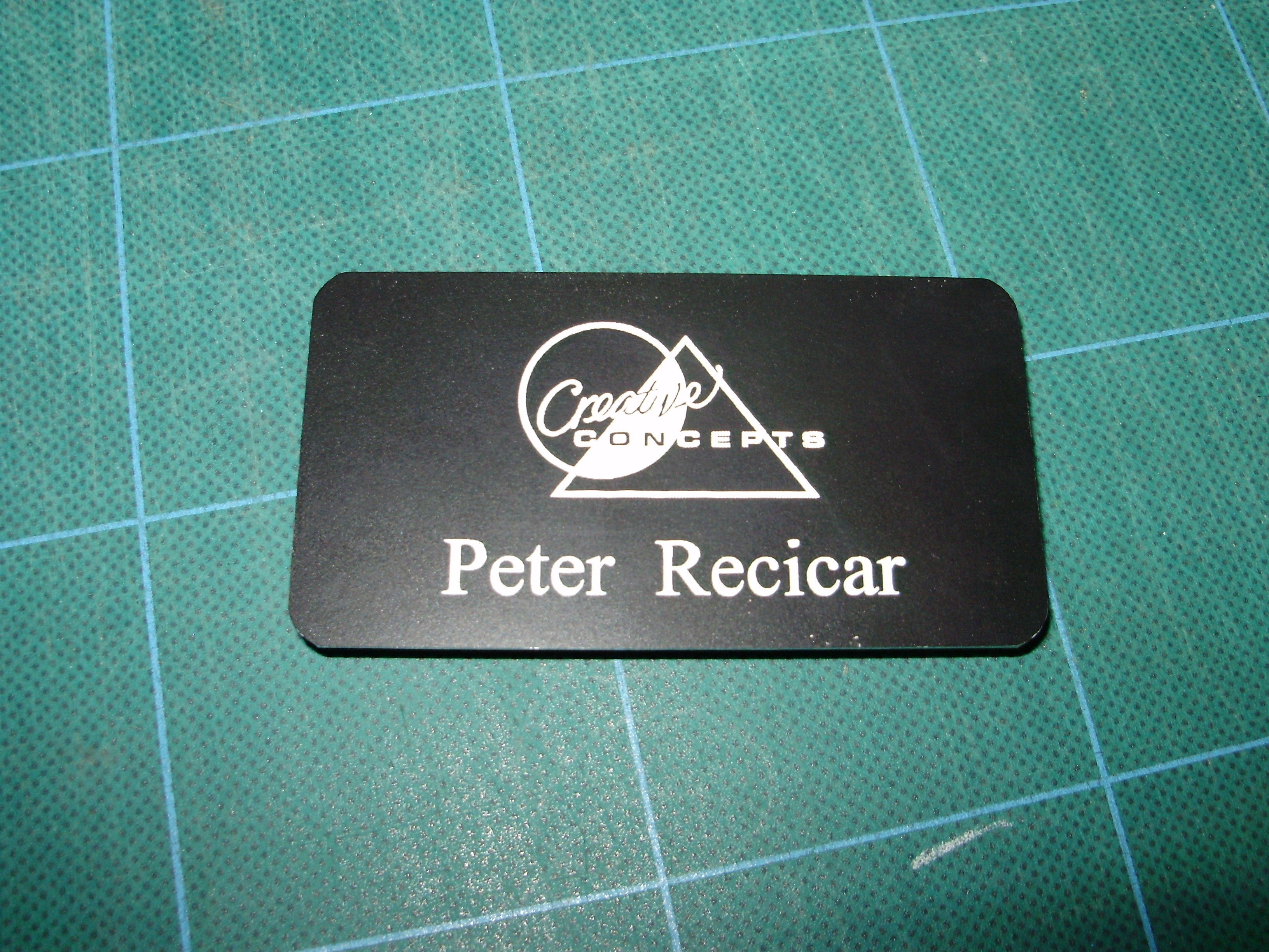 """1 3/4"""" x 3 3/4"""" PVC Name Badge with Magnetic Back"""