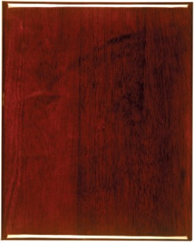 """9"""" x 12"""" Rosewood Finish Plaque with square corners - PNA912"""