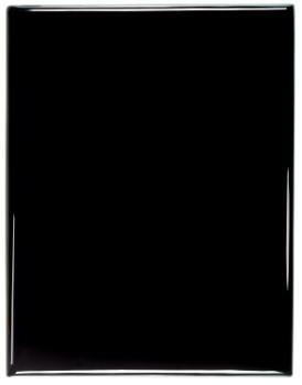 "8"" x 10"" Black Piano Finish Plaque with square corners - PNB810"
