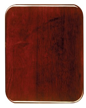 "8"" x 10"" Rosewood Piano Finish Rounded Corner Plaque - PNC810"