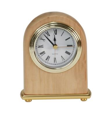 "4"" x 5"" Arch Red Alder Desk Clock - RA001"