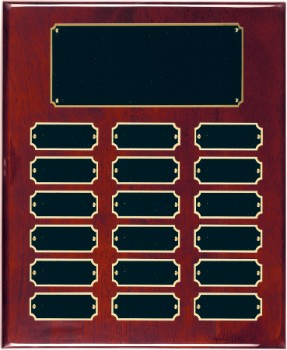"10 1/2"" x 13"" Rosewood Piano Finish Perpetual Plaque - RPP18"