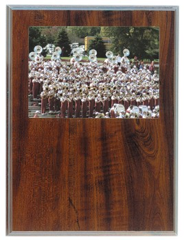 "9"" x 12"" Routed Cherry Finish Photo Plaque - RTD4"