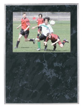 """9"""" x 12"""" Black Marble Finish Slide-In Plaque - SDN32"""
