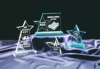 "4 3/4"" x 8"" Clear Star Acrylic Obelisk - STA8C"