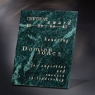 "7"" x 9"" Green Marble Plaque - 3000-79"