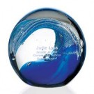 Wave Art Glass Sphere - 36502