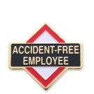 Accident Free Employee Stock Safety Lapel Pin with military clutch - C1